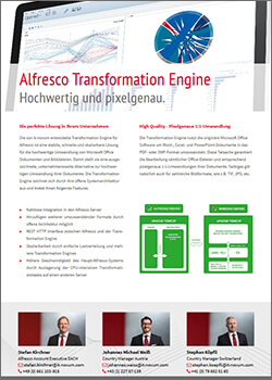OnePager Alfresco Transformation Server