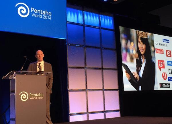 Mike Gaulteri von Forrester auf der Pentaho World 2014 (Quelle: Rebecca G. Shomair)