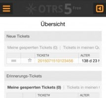 OTRS 5 wird mobil