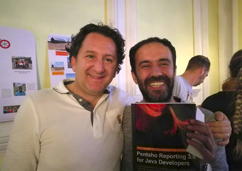 Francesco Corti and Nelson Sousa at Pentaho Community Meeting 2017