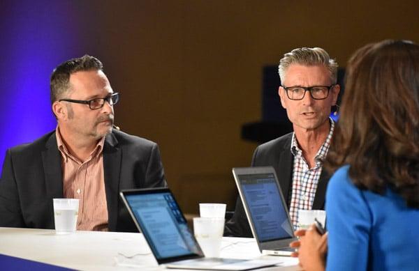 Michael Becker (links) und Henry Liebrenz verantworten das Pentaho-Projekt der Bundespolizei (Quelle: siliconangle.tv)