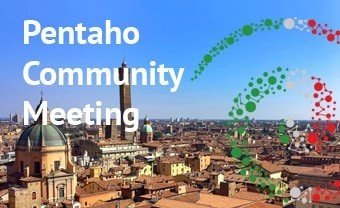 The 11th Pentaho Community Meeting will take place in Bologna